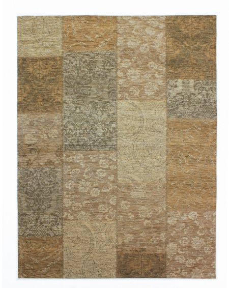 Flair Rugs Chenille gold and beige rug 155x230