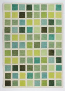 Flair Rugs Campari Pixel Green Wool Rug Range