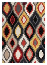 Flair Rugs Ikat teal and ochre rug 120x170cm