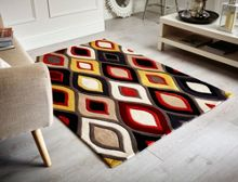 Flair Rugs Ikat teal and ochre rugs