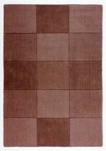 Flair Rugs Wool squares chocolate rug 75x150cm