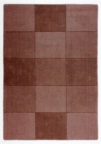 Flair Rugs Wool Squares Chocolate Rug Range