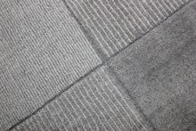 Flair Rugs Wool Squares Light Grey Rug Range