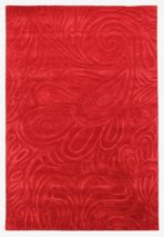 Flair Rugs Carved paisley red rug 120x170cm