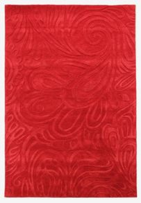 Flair Rugs Carved paisley red rug range