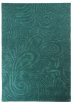 Flair Rugs Carved paisley teal rug 120x170cm