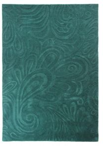 Flair Rugs Carved paisley teal rug range