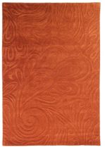 Flair Rugs Carved paisley terracotta rug 120x170cm