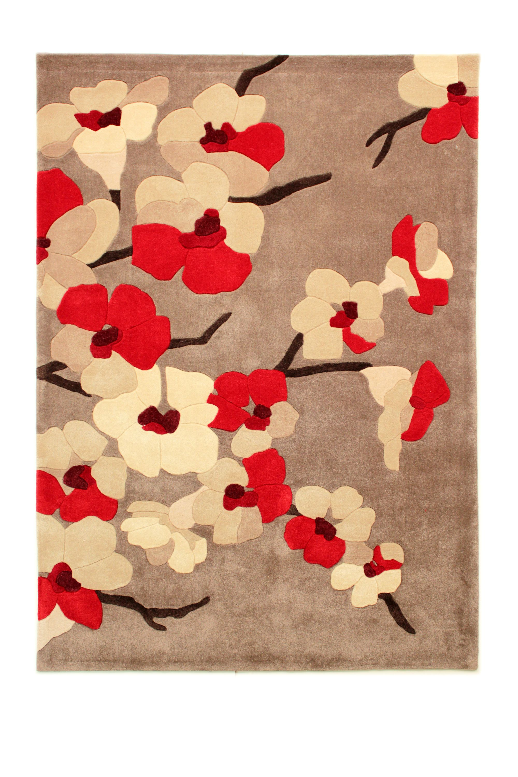 Flair Rugs Flair Rugs Blossom red rug 135x135cm