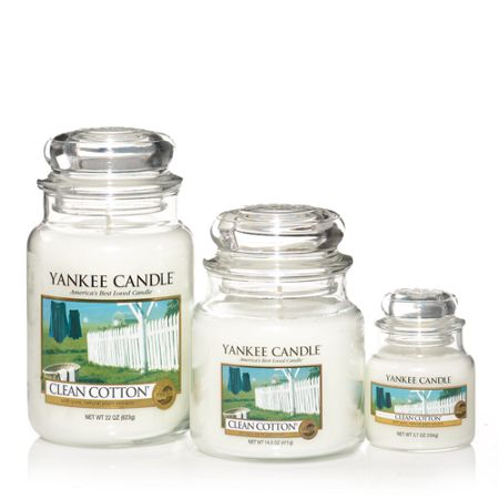 Yankee Candle Large clean cotton housewarmer candle