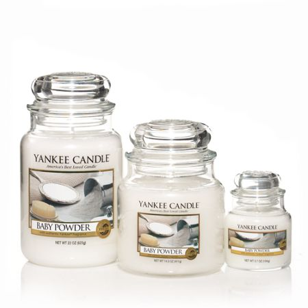 Yankee Candle Large baby powder housewarmer candle