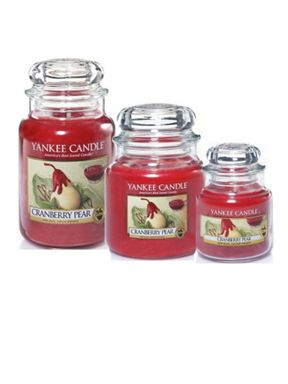 Yankee Candle Cranberry pear candle jars