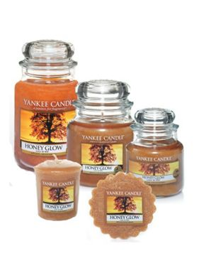 Yankee Candle Honey glow fragrance collection
