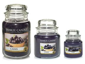 Yankee Candle Cassis Scented Candle Range