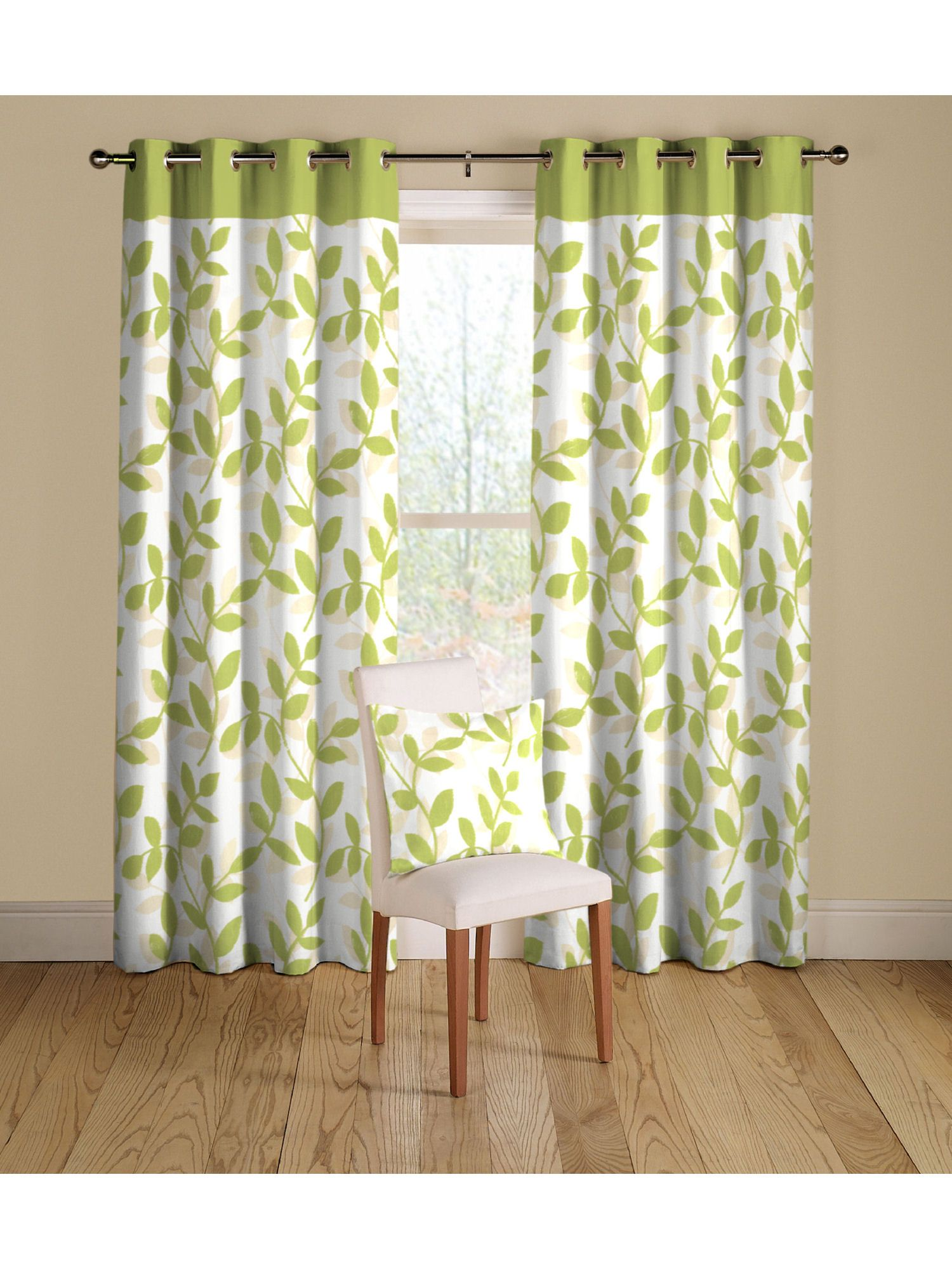 Rectella savannah curtains in green
