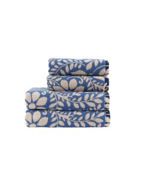 Christy Padua bath towel range in Deep Sea