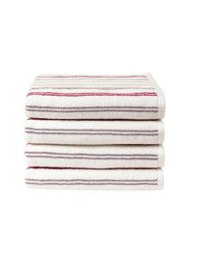 Candy stripe bath towel range in pink