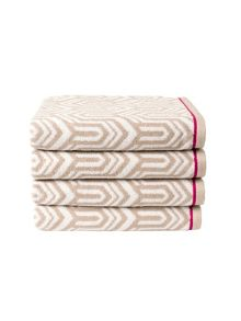 Gatsby bath towel range in putty