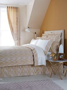 Larkin oxford pillowcase pair gold