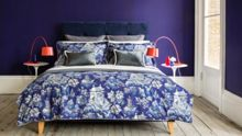 Christy Chinese garden oxford pillowcase pair ultramarine