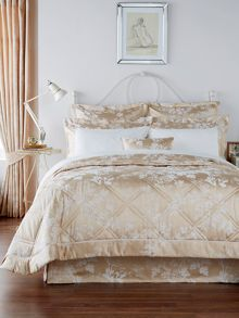 Christy Gypsy floral bedspread range in Gold