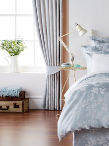 Christy Gypsy floral curtain range in Soft Teal