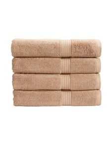 Soho towel range in Sable