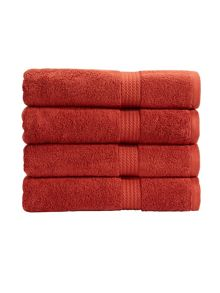 Soho towel range in copper