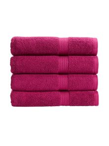 Christy Soho towel range in magenta