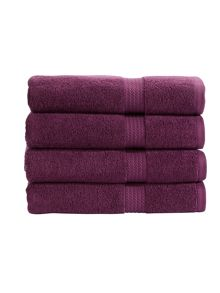 Soho towel range in plum