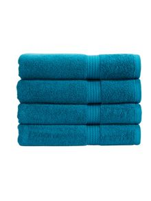 Soho towel range in teal
