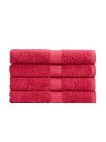 Christy Portobello bath towel range in deep pink