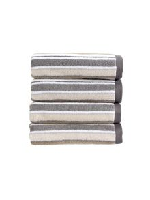 Christy Portobello stripe towel range in neutral