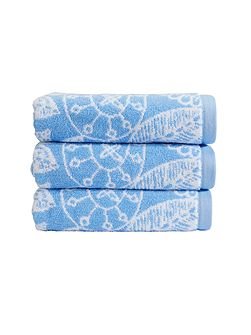 Secret garden bath sheet cornflower