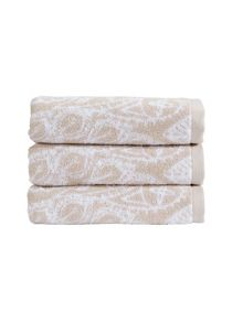 Christy Secret Garden towel range in latte
