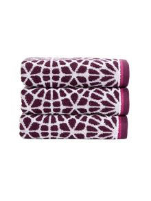 Christy Alhambra towel rante in plum