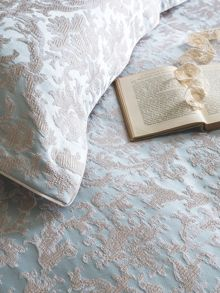 Christy Venice bed linen range in duck egg