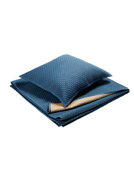 Christy Loops king size throw storm blue