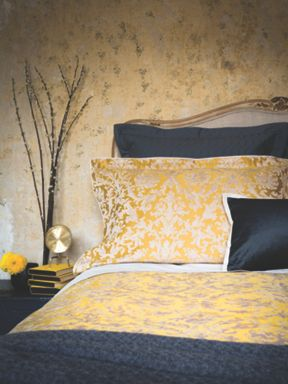 Christy Venice bed linen range in Mustard