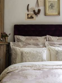 Christy Salome bed linen range in Pumice