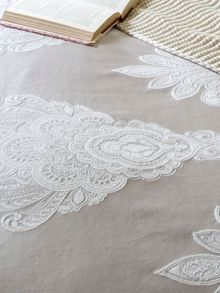 Salome bed linen range in Pumice