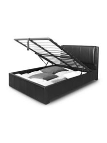 Arista Design Black Designer Ottoman Storage Bed