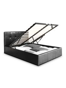 Arista Design Black Checked Designer Ottoman Bed