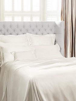 Ivory silk double duvet cover