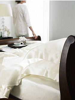 Ivory silk king duvet cover