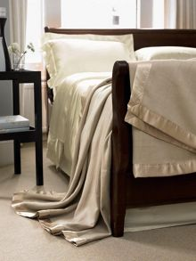 Gingerlily Silk blanket range in biscuit beige