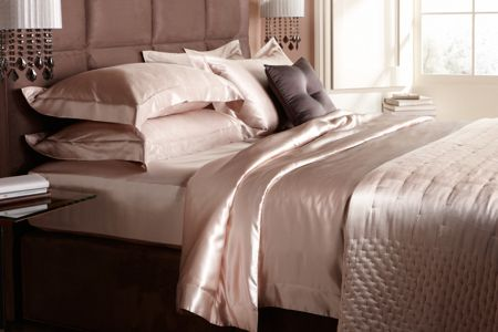 Gingerlily Dimple nude silk double bedspread