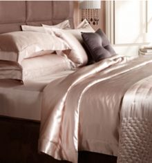 Nude silk standard pillowcase