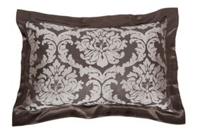 Gingerlily Jacquard silk bed linen in truffle brown