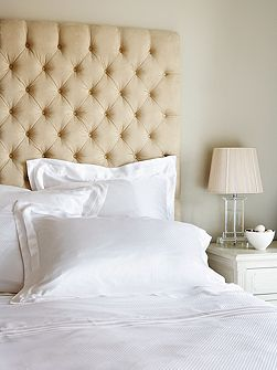Eva white silk square pillowcase